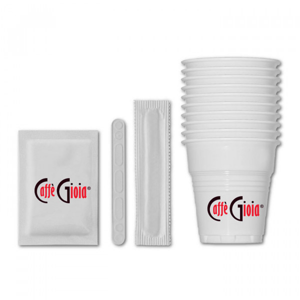 Комплект аксесоари - чаши, бъркалки и захарчета на топ цена само при нас в kafe365.com